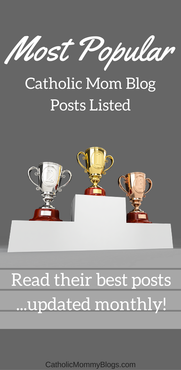 The most popular Catholic mom blogs posts from multiple bloggers... updated monthly and with only their best from that month!