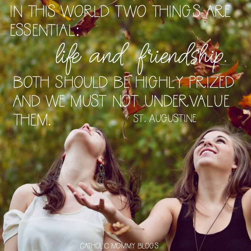 St Augustine Inspirational Quote on Life and Friendship